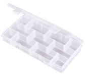 Flambeau Tuff Tainer 3 Compartment Box w/ Movable Dividers and Detachable Lid