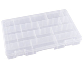 Flambeau Tuff Tainer 4 Compartment Box w/ Movable Dividers and Detachable Lid