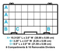 Flambeau Tuff Tainer 6 Compartment Box-M