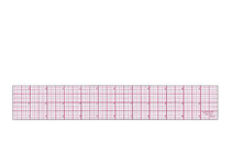 Clear Acrylic Standard Beveled Ruler