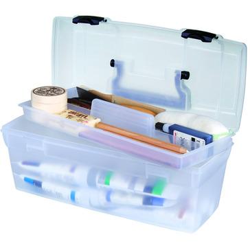 ArtBin Essentials Lift Out Box Translucent w/ Black Handle