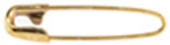 "#1-1 1/16"" French Coilless Safety Pins (Gold)"