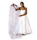 "Clear Wedding Gown Garment Bag - 72"" - 16"" Gusset"