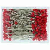 "IBC Glass Head Pins - (Size 23 - 1 3/8""  long - 250 ct.) - Red"