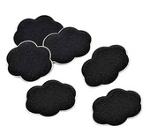 Foot Petals Pressure Pointz-6 ct. Black