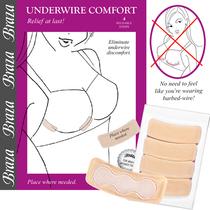 Braza Underwire Comfort-4 Strips-Beige