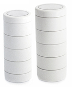 Monda Studio Stackable Make Up Jars White (x5)