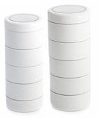 Monda Studio Stackable Make Up Jars White (x5)