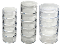 Monda Studio Stackable Powder Jar - Clear