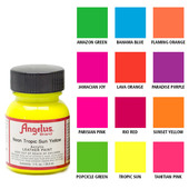Angelus Neon Acrylic Leather Paint Starter Kit