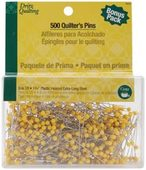 "Dritz YELLOW Ballhead Pins Size 28 1 3/4"" long -500 Ct."