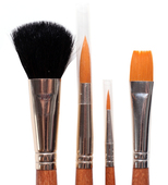 "Royal Brush Gold Taklon 4 pc. 1 3/4"" Mop, 10 Rnd, 2 Lnr, 1/2"" Glz"