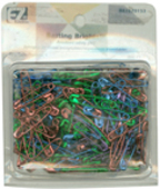 Wrights Multi Colored Anodised Steel Safety Pins-Multi Color-rust resistant