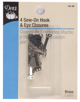 Dritz Skirt Hooks and Eyes - Silver/Black - 4 sets