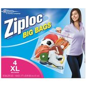 "Ziploc Big Bag X-Large (2' x 1' 8"" - 4 ct.)"