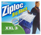 "Ziploc Big Bag XX-Large (2' x 2' 8"" - 3 ct.)"