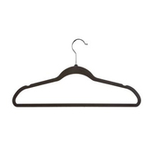 Velvet Slimline Suit Hanger with Crossbar - black - 17""
