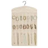 Household Essentials Double-Sided Hanging Jewelry Organizer