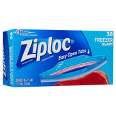 Ziploc Freezer Bag - 1Qt. / 38 count