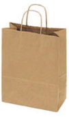 Tan Kraft Shopping Bag w/Handle