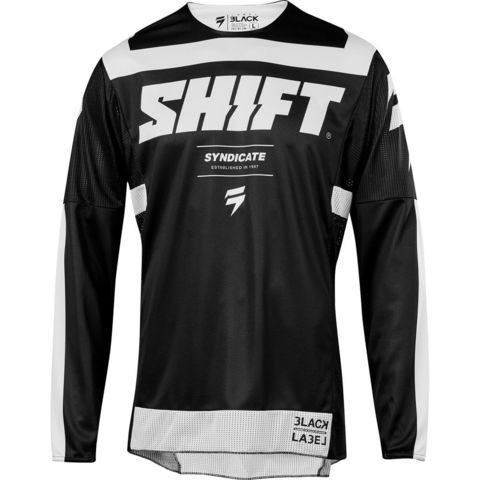 JERSEY SHIFT 3LACK STRIKE NEGRO/BLANCO T/M