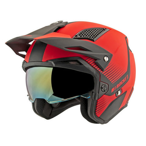 CASCO JOE ROCKET RKT 6 PHOENIX BLACK/RED TALLA L