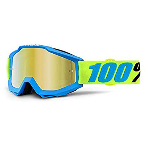 GOGGLE 100% ACCURI BELIZE MIRROR GOLD - AZUL