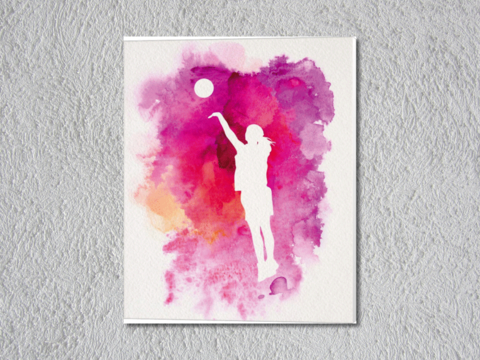 basketball Girl Pink