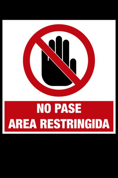 No pase area restringida