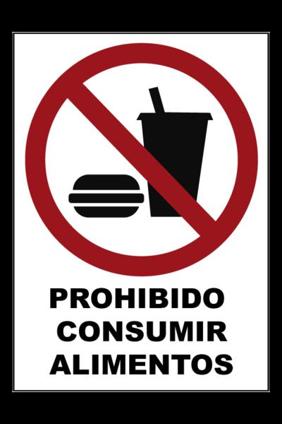 Prohibido consumir alimentos