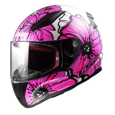 CASCO LS2  RAPID POPPIES ROSA T/M
