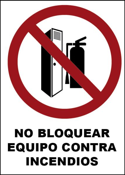 No bloquear el equipo contra incendios