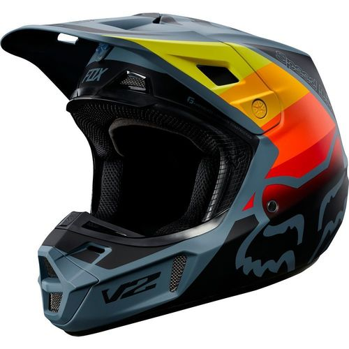 CASCO FOX V2 MURC AZUL T/S
