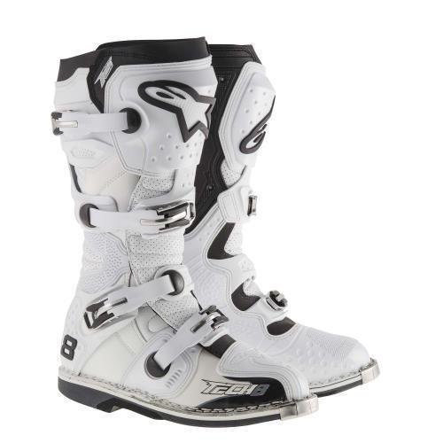 Botas Alpinestars Tech 8 Rs Blanco 26.5, 26.5 Cm 8 USA