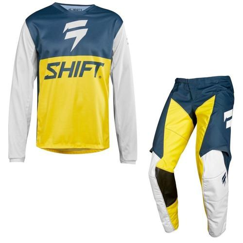 KIT SHIFT WHIT3 LABEL GP LE AZUL/AMARILLO JERSEY L PANTALON 34