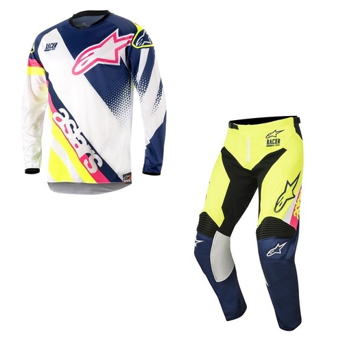 PANTALON ALPINESTARS SUPERMATIC BLANCO/AZUL  T/32