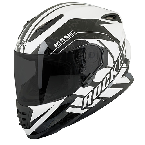 CASCO JOE ROCKET RKT 13 SERIES BLANCO/NEGRO T/M