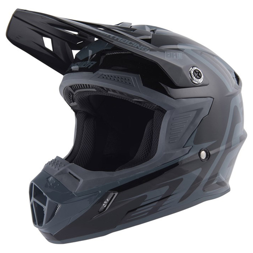 CASCO ANSWER AR1 EDGE NEGRO CON CARBÓN T/S