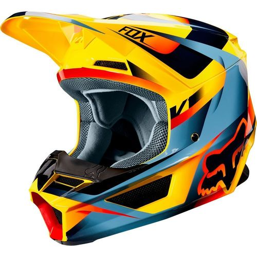 CASCO FOX V1 MOTIF AMARILLO T/M