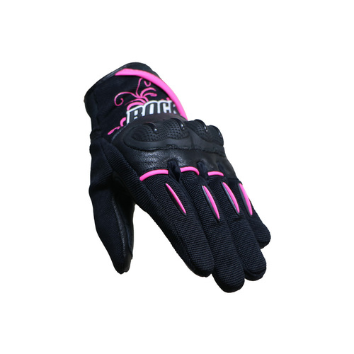 GUANTE JOE ROCKET LADIES SUPER MOTO DAMA NEGRO/ROSA T/S