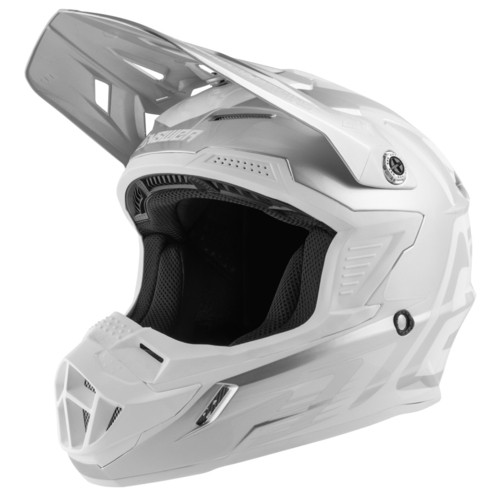 CASCO ANSWER AR1 EDGE GRIS CON BLANCO T/S