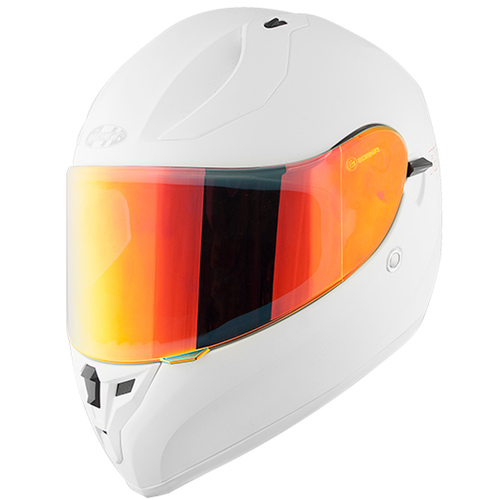 CASCO JOE ROCKET RKT 14-SERIES BLANCO/NARANJA INCLUYE REPUESTO MICA TRANSPARENTE T/S