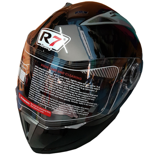 CASCO R7 RACING ABATIBLE V2 NEGRO T/L