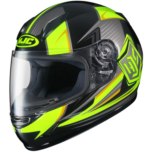 CASCO HJC STRIKER MC3H CL-17 NEGRO/FLUO T/L