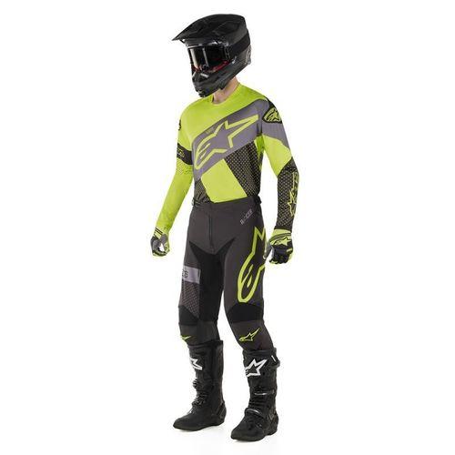 Kit Jersey Pant Alpinestars Racer Tech Neon Neg Mx19 32-M