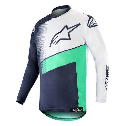 JERSEY ALPINESTARS RACER SUPERMATIC MX19 AZUL/BLANCO T/S