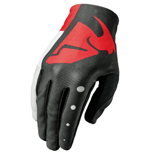 GUANTE THOR S7 VOID ROJO/NEGRO T/2XL