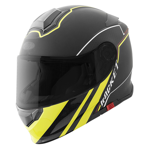 CASCO JOE ROCKET RKT 18-SERIES ABATIBLE NEGRO/AMARILLO T/S