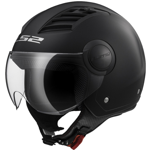 CASCO LS2  AIRFLOW SOLID NEGRO MATE T/M