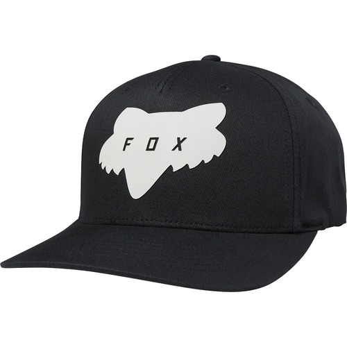GORRA FOX TRADED FLEXFIT NEGRO L/XL